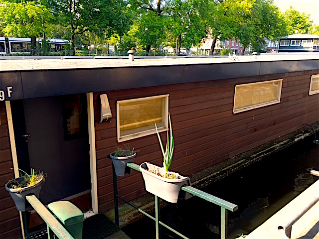 the entrance to our houseboat