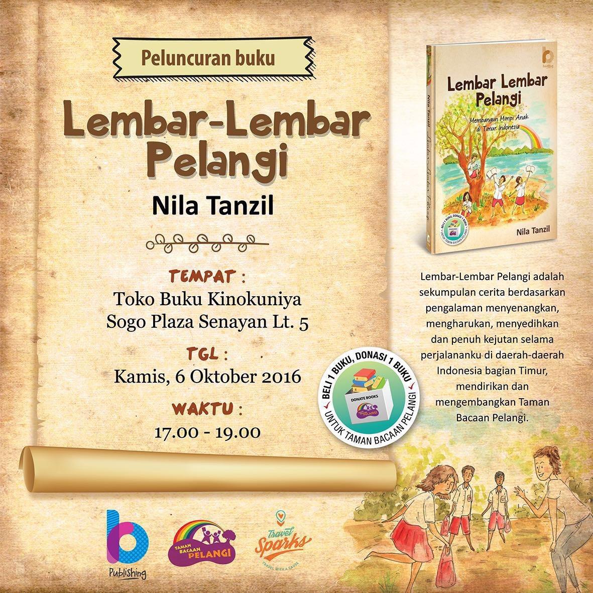Youre all invited book launch lembar lembar pelangi nila tanzil stopboris Choice Image